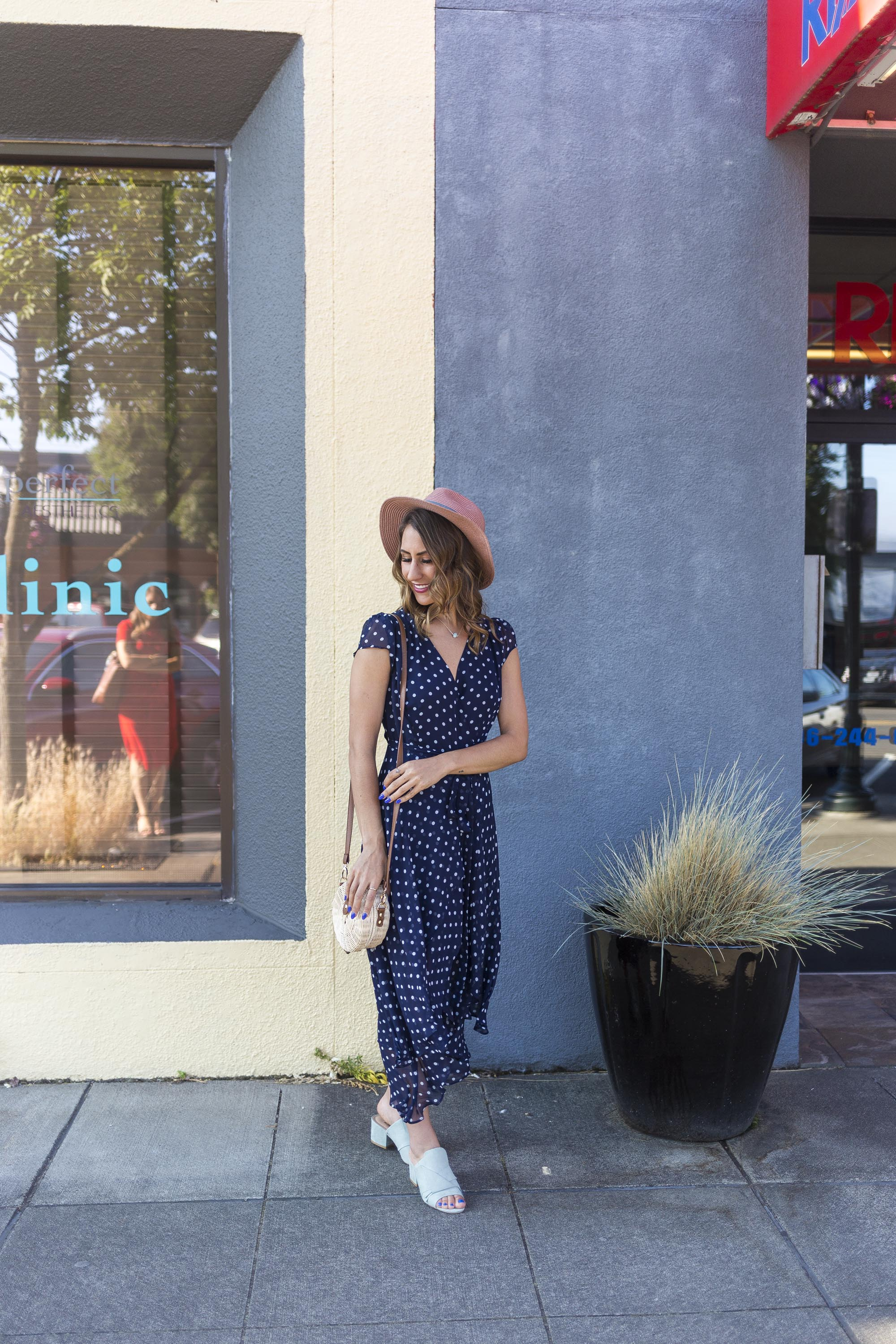 wantable, polka dot dress, seattle fashion blogger