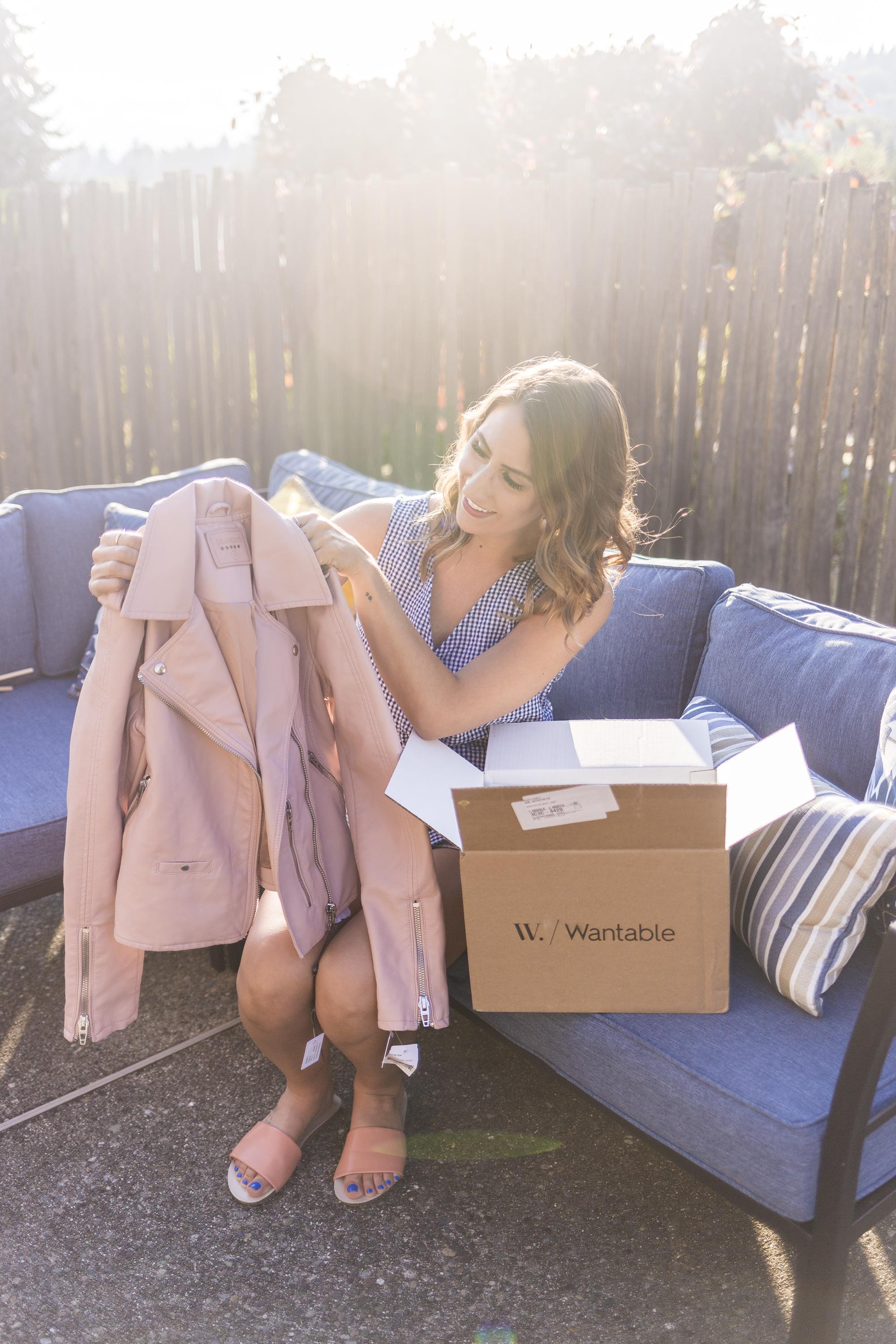 pink jacket, wantable, style box service