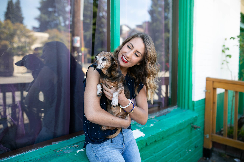 diary of this girl megan, seattle fashion blogger, dachshund