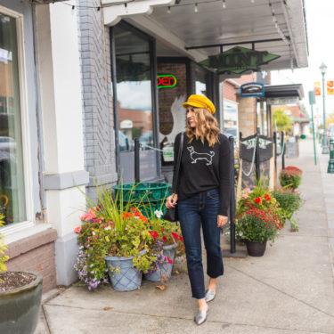 seattle fashion blogger, dachshund sweater