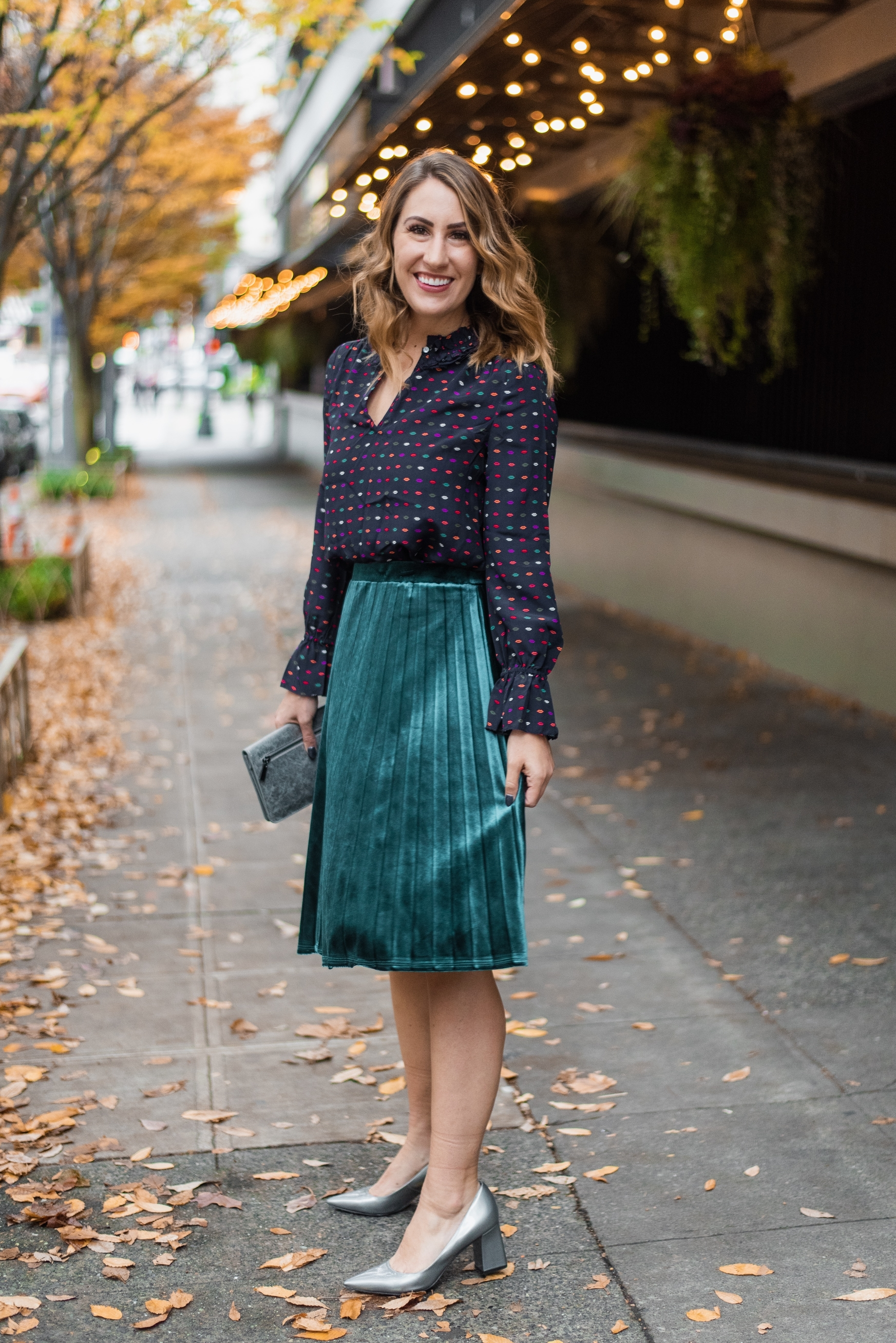 seattle fashion blogger, velvet skirt, diary of this girl megan