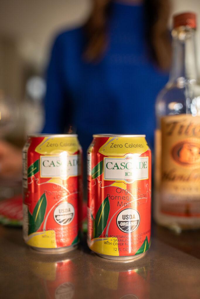 cascade ice, holiday drinks, holiday recipes