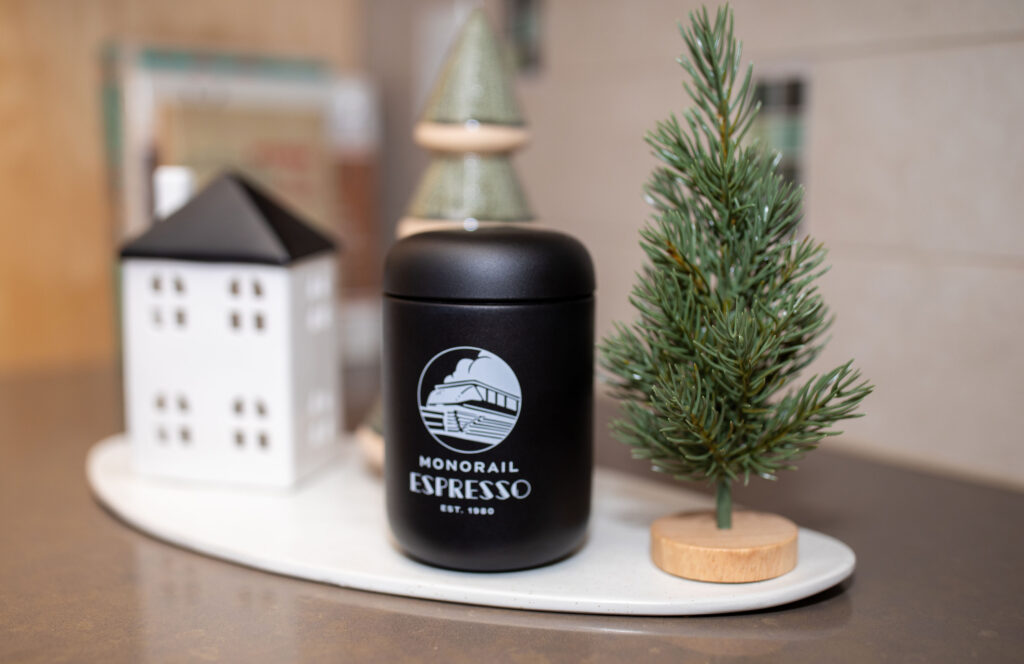 holiday shopping, holiday gifts, shop small, monorail espresso