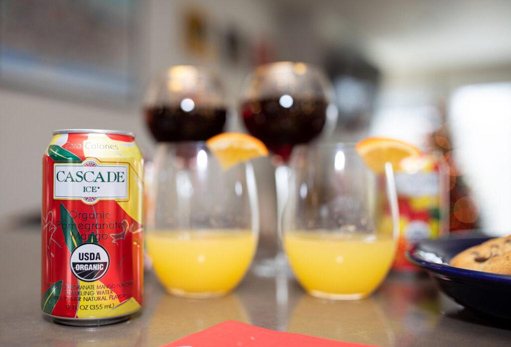 holiday drinks, holiday recipes, cascade ice